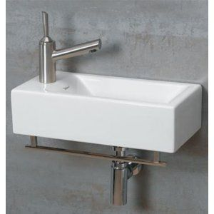 Whitehaus Wall Mount Basin Powder Room Sink Wall Mounted Basins Powder Room Small