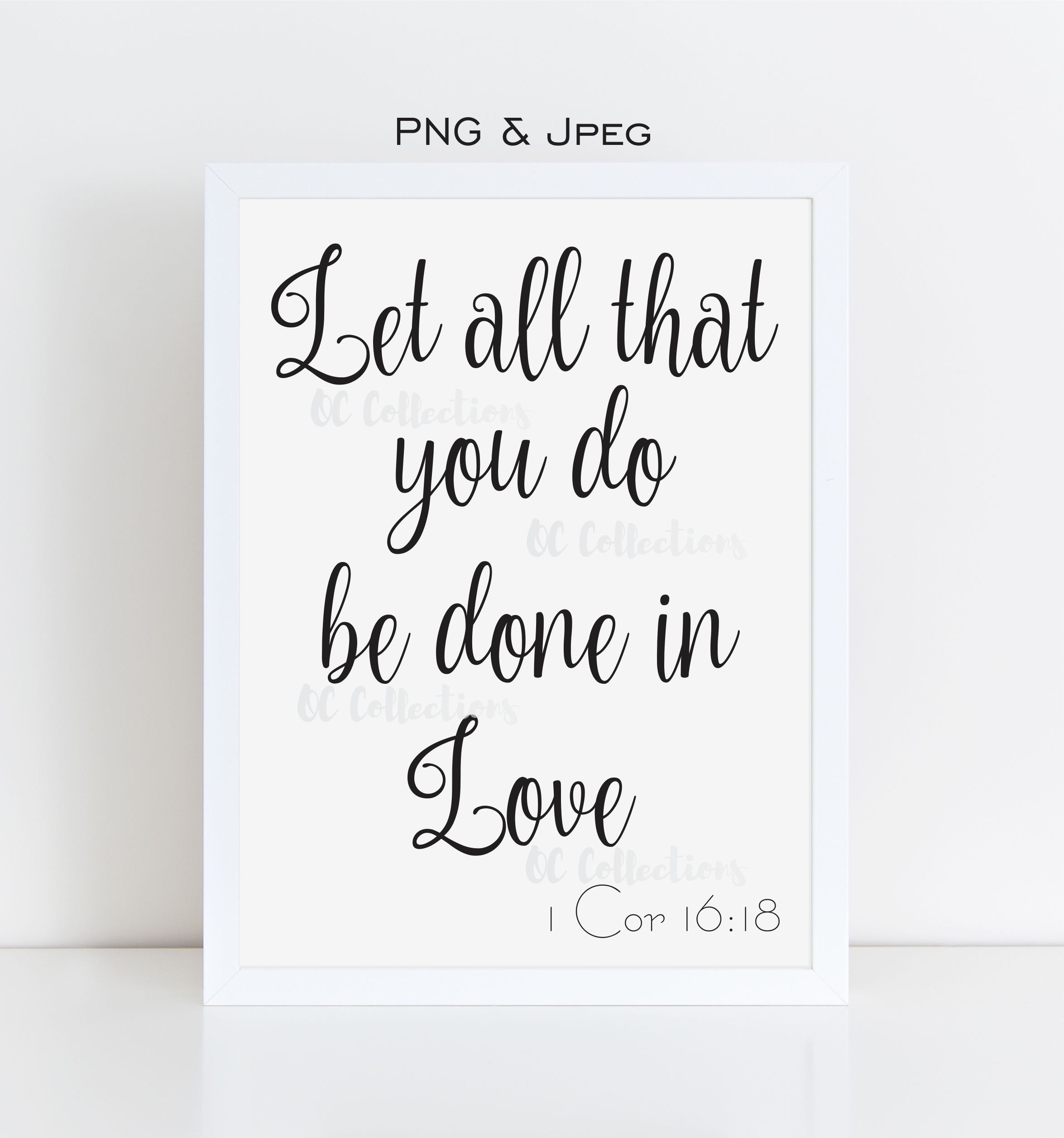 Love Quote Png & Jpeg Printable Wall Art Motivational Typography