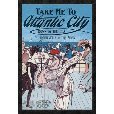 Global Gallery 'Take Me to Atlantic City' by Starmer Framed Vintage Advertisement Size: