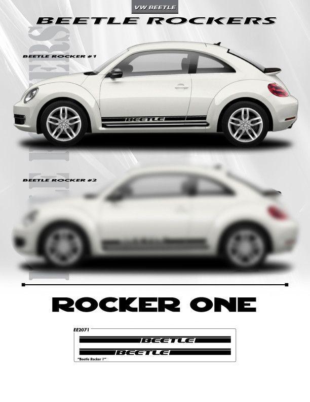 1998 2016 Volkswagen Beetle Graphics Rocker Panel Decals 3m Vinyl One