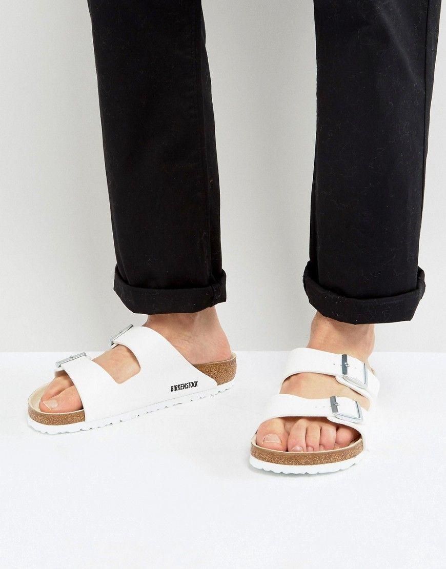 c7a73f134ab BIRKENSTOCK ARIZONA SANDALS IN WHITE - WHITE.  birkenstock  shoes ...