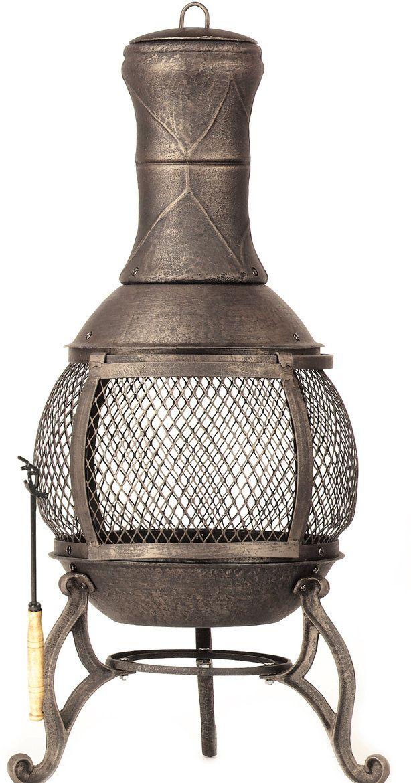 Corona Cast Iron Wood Burning Outdoor Fireplace Fire Pit
