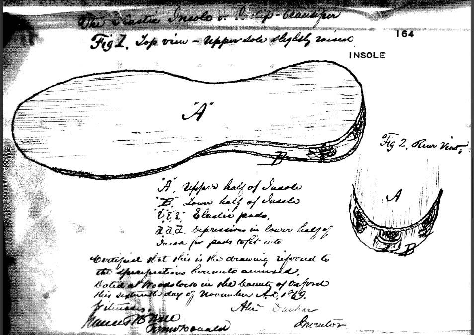 Today in 1869, Canadian A. Dunbar's patent for insoles