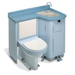 Lavatory Fixed Water Closet Bed Pan Washer Combo Toilet Sink Water Closet Bed Pan Small House Living