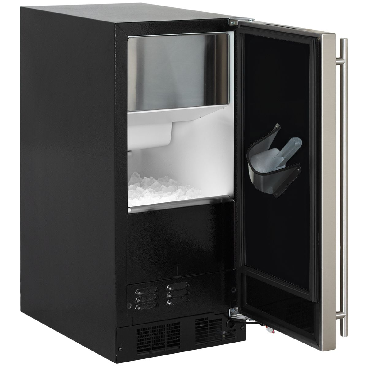 Ml15c 15 Marvel Clear Ice Machine With Arctic Illuminice Open Clear Ice Machine Stainless Steel Doors Ice Maker