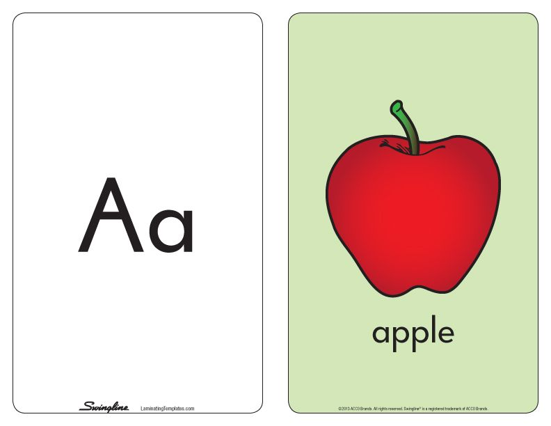 ABC Flashcards - Free Laminating Templates by Swingline Playtime - flash card template