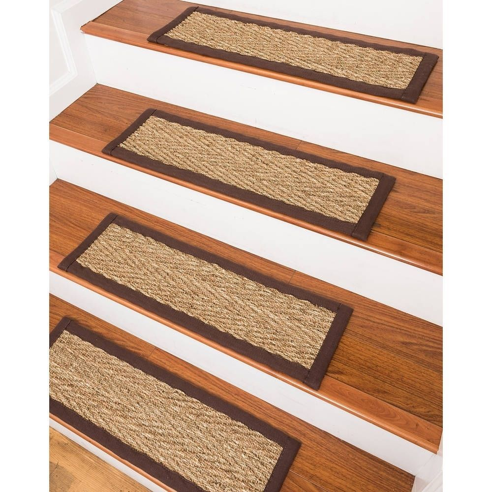 Best Beach Seagrass Carpet Stair Treads 9 X 29 Espresso 400 x 300