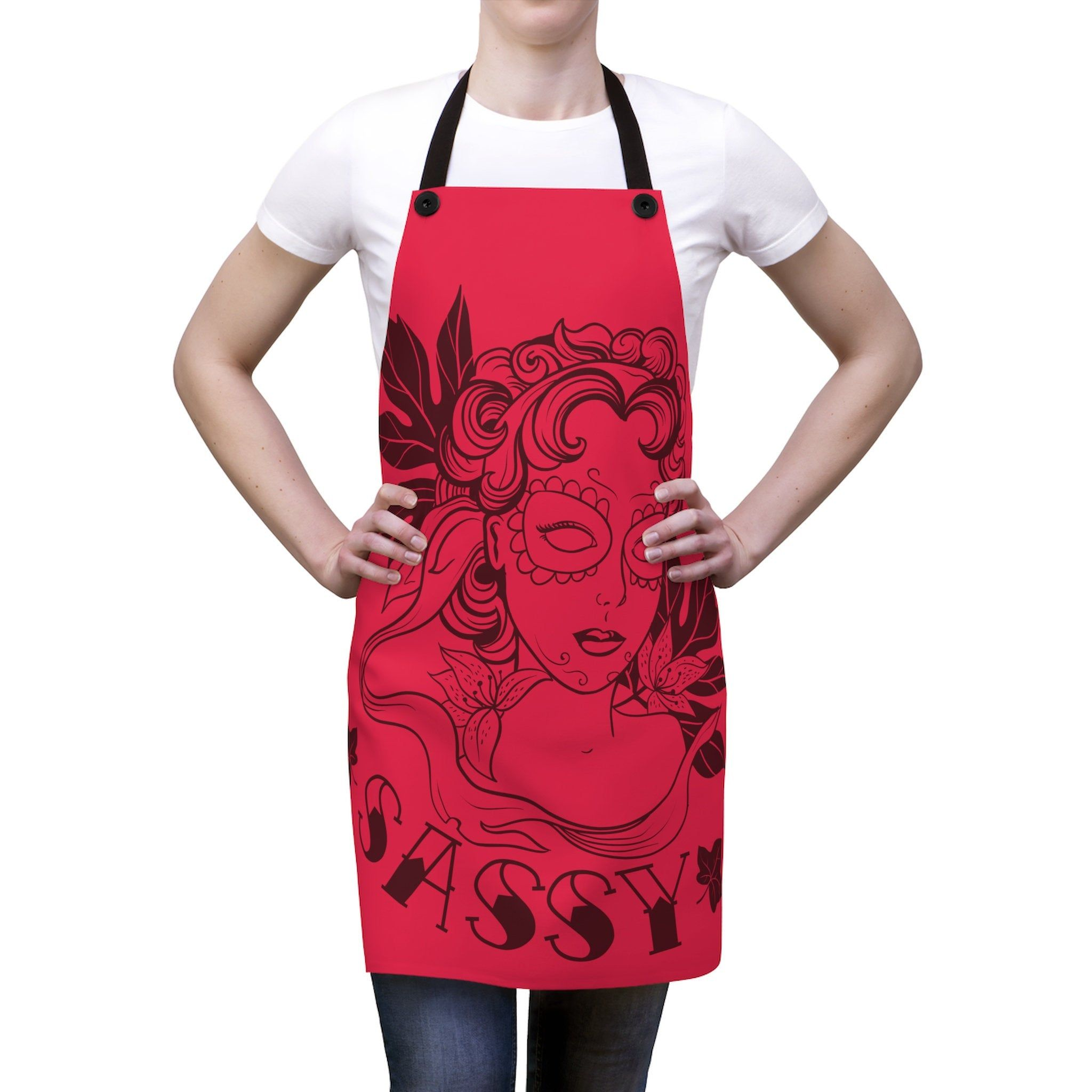I Bake Because Punching People Is Frowned Upon v2 Vintage Inspired Cookout Apron