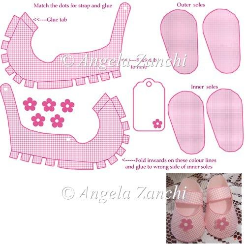 Instant Card Making Downloads Mini Pink Shoe Template A Cute Baby Shoe Template Size Of Sole Is 75mm In Leng Doll Shoe Patterns Shoe Template Baby Shoes Diy