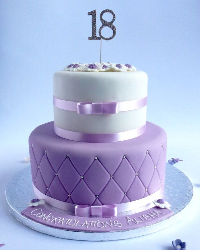 2 tier Quilted Elegance Round cakes Sugaring and Cake