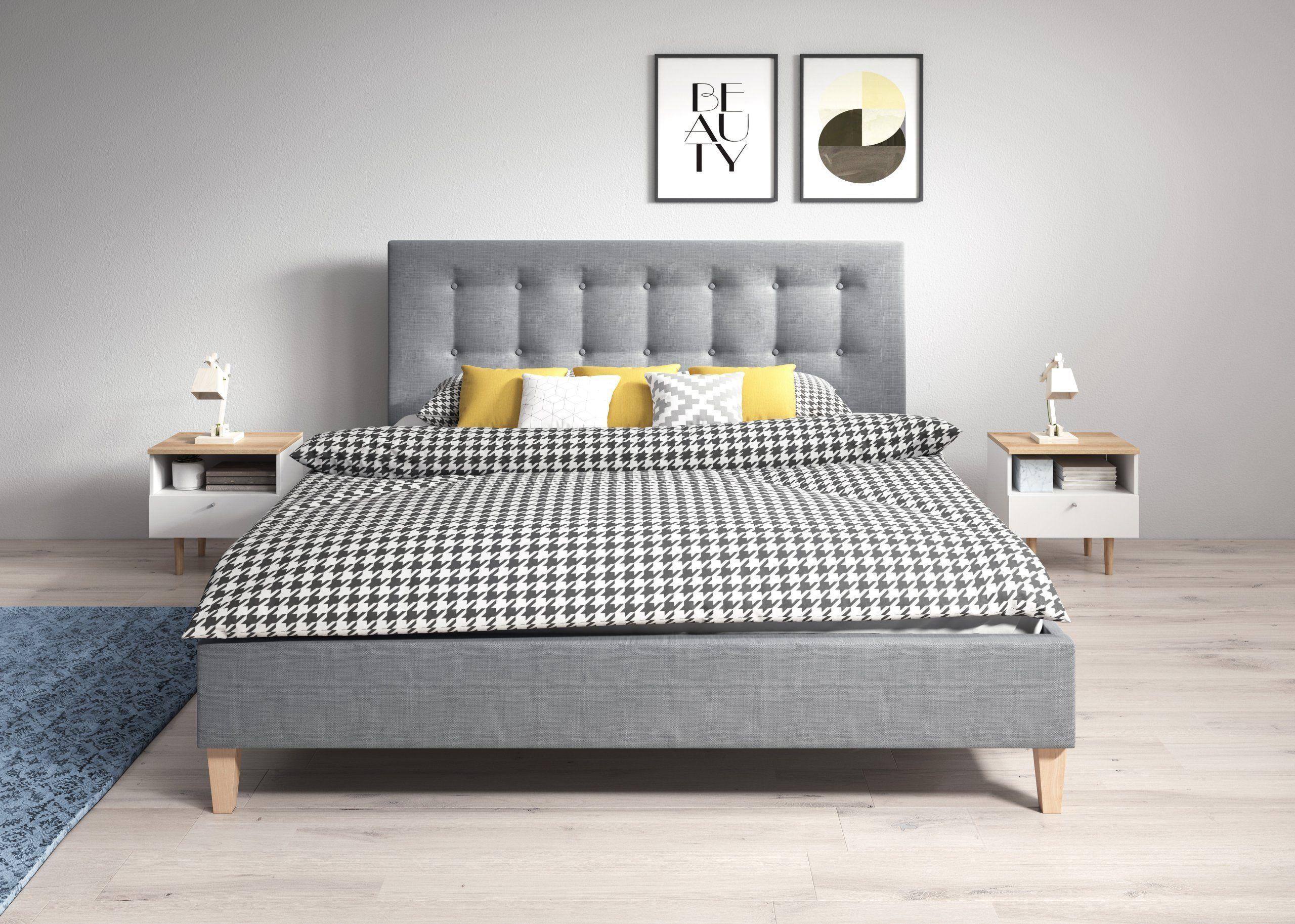 łóżko Tapicerowane Dawid 160x200 Z Materacem Irys 6916562722