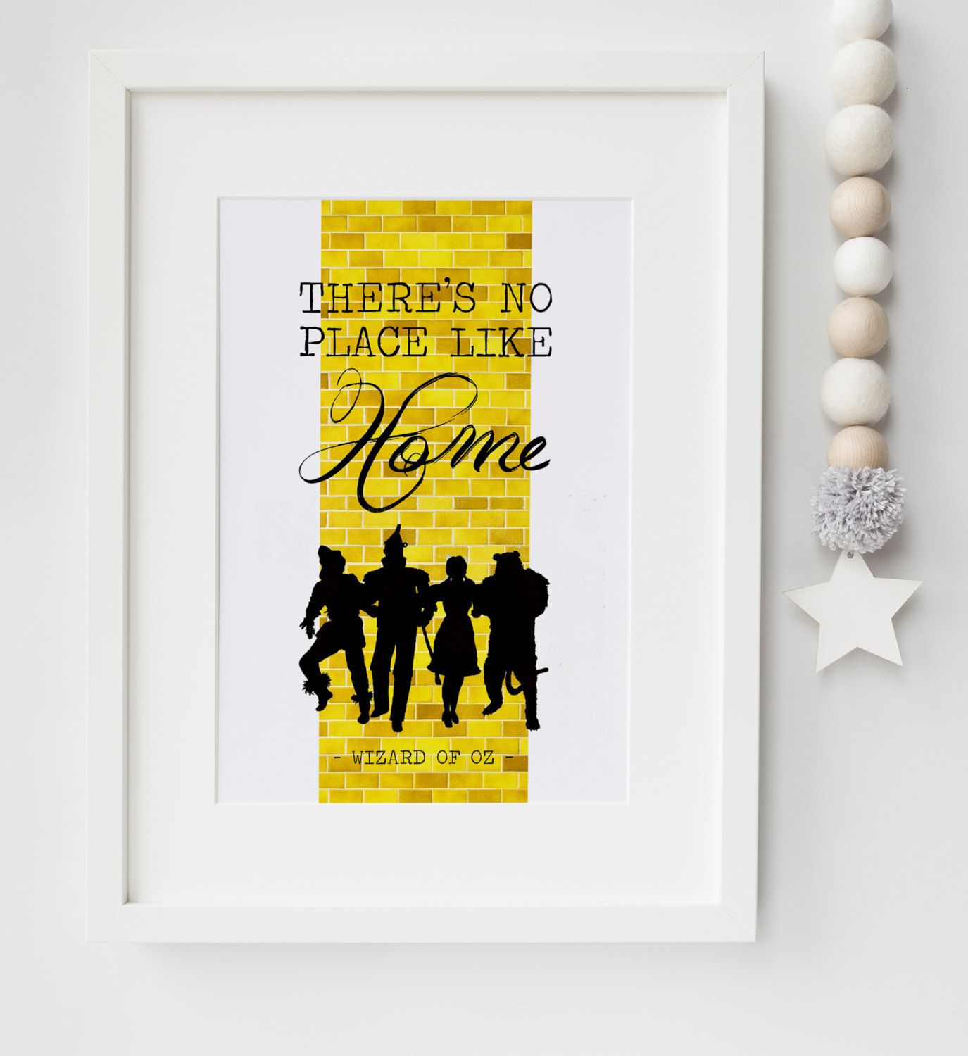 The Wizard Of Oz There\'s No Place Like Home Yellow Brick Road Quote ...