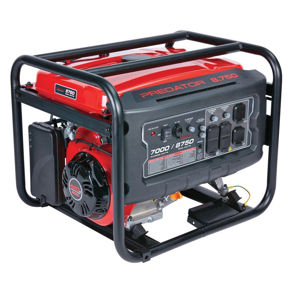 8750 Watt Max Starting Gas Powered Generator CARB Gas