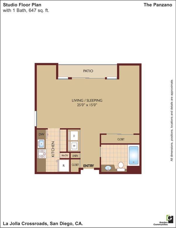 San Diego County Studio 1 2 Bedroom Floor Plans Apartments For Rent Floor Plans 2 Bedroom Floor Plans Bedroom Floor Plans