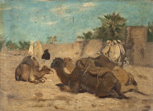 Eug ne fromentin arabes et chameaux laghouat for Artiste peintre poitiers