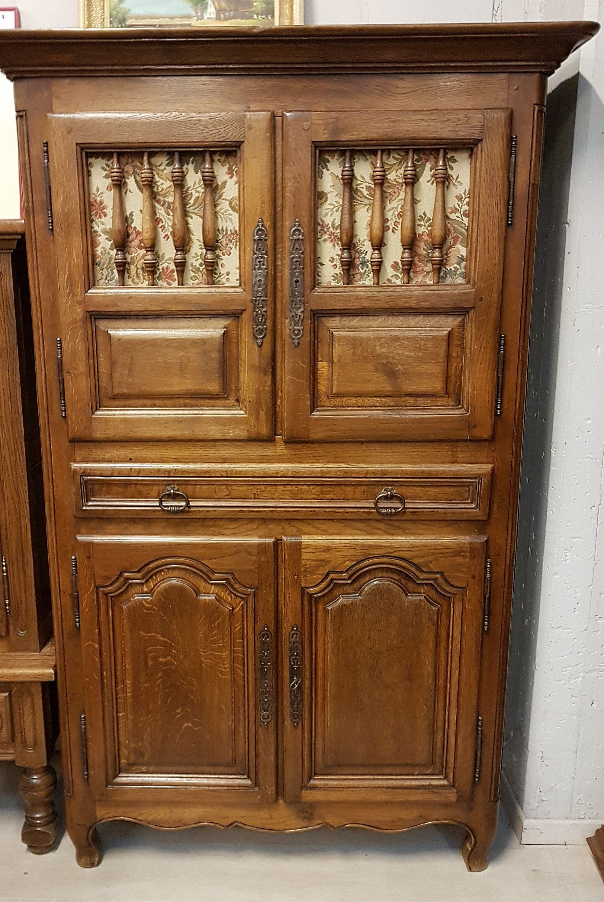 fabulous antique solid oak kitchen cupboard pantry storage