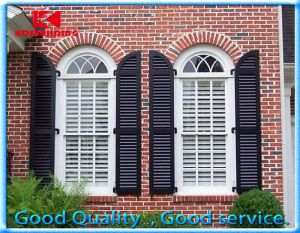 Hot Item Europe Style Wooden Shutter Arched Window With Grill Design Kdsw169 Shutters Exterior Windows Exterior Interior Shutters