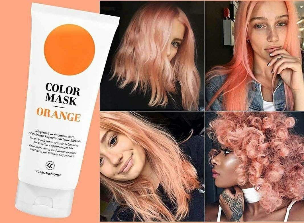 Color Mask Orange With Images Orange Hair Peach Hair Hair Color