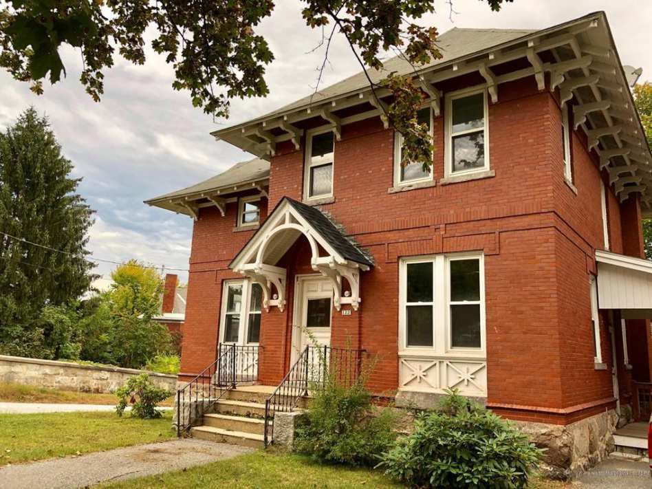 This beautiful brick home has a large living room, 4