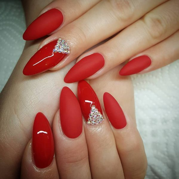 Cute Red Nails Designs for Trendy Women - Cute Red Nails Designs For Trendy Women Nail Colors In 2019 Nail