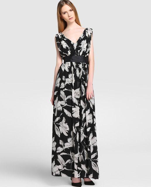 Vestidos largos de flores del corte ingles