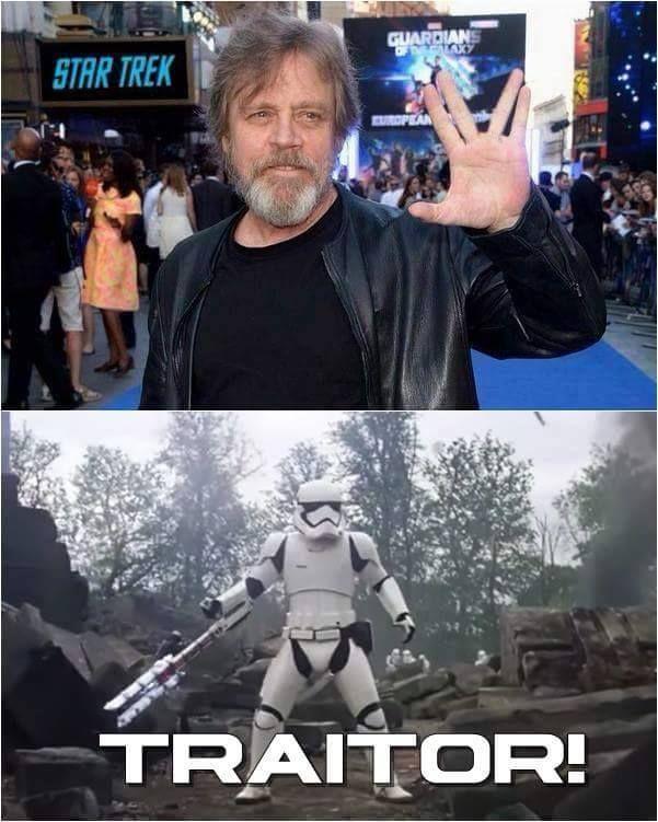 Traitor Startwars That S So Geekin Awesome Http Www Sogeekinawesome Com Funny Star Wars Memes Star Wars Memes Star Wars Jokes