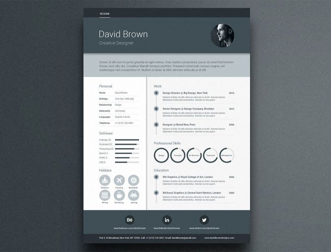 17 free resume templates - Resume templates, Resume template free, Cv template free, Creative resume template free, Resume template professional, Creative resume templates - These free resume templates offer a great starting point to help sell your creative skills