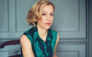 Poised: Gillian Anderson photographed in London