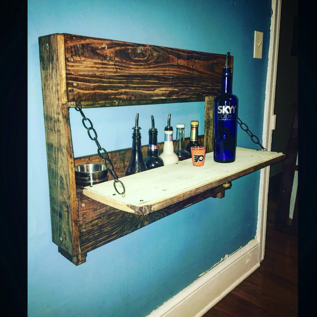 Fold out wall storage mini whiskey bar by ThirtySevenMain on Etsy ...