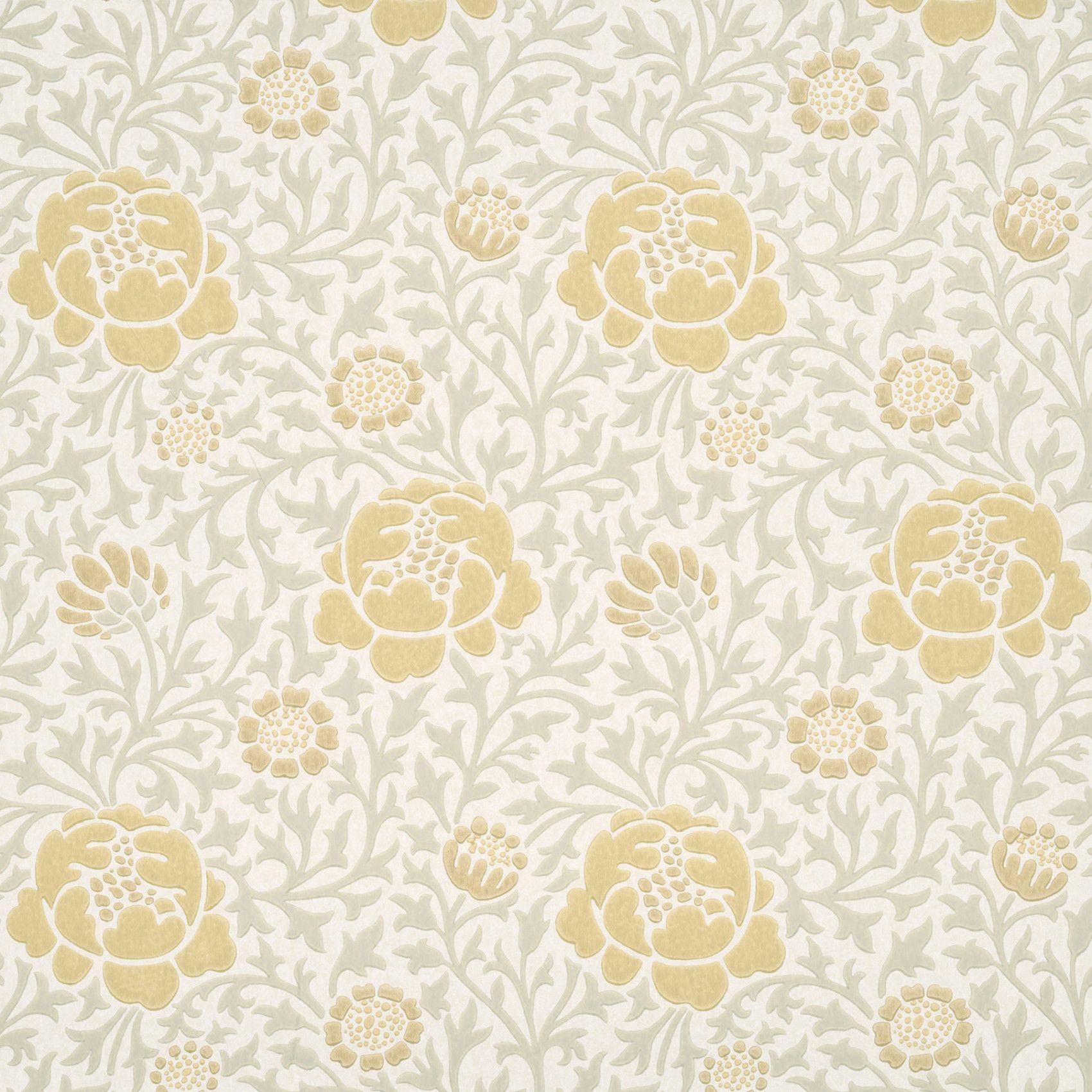 Buy Lansdowne Walk Mist Floral Wallpaper Little Greene