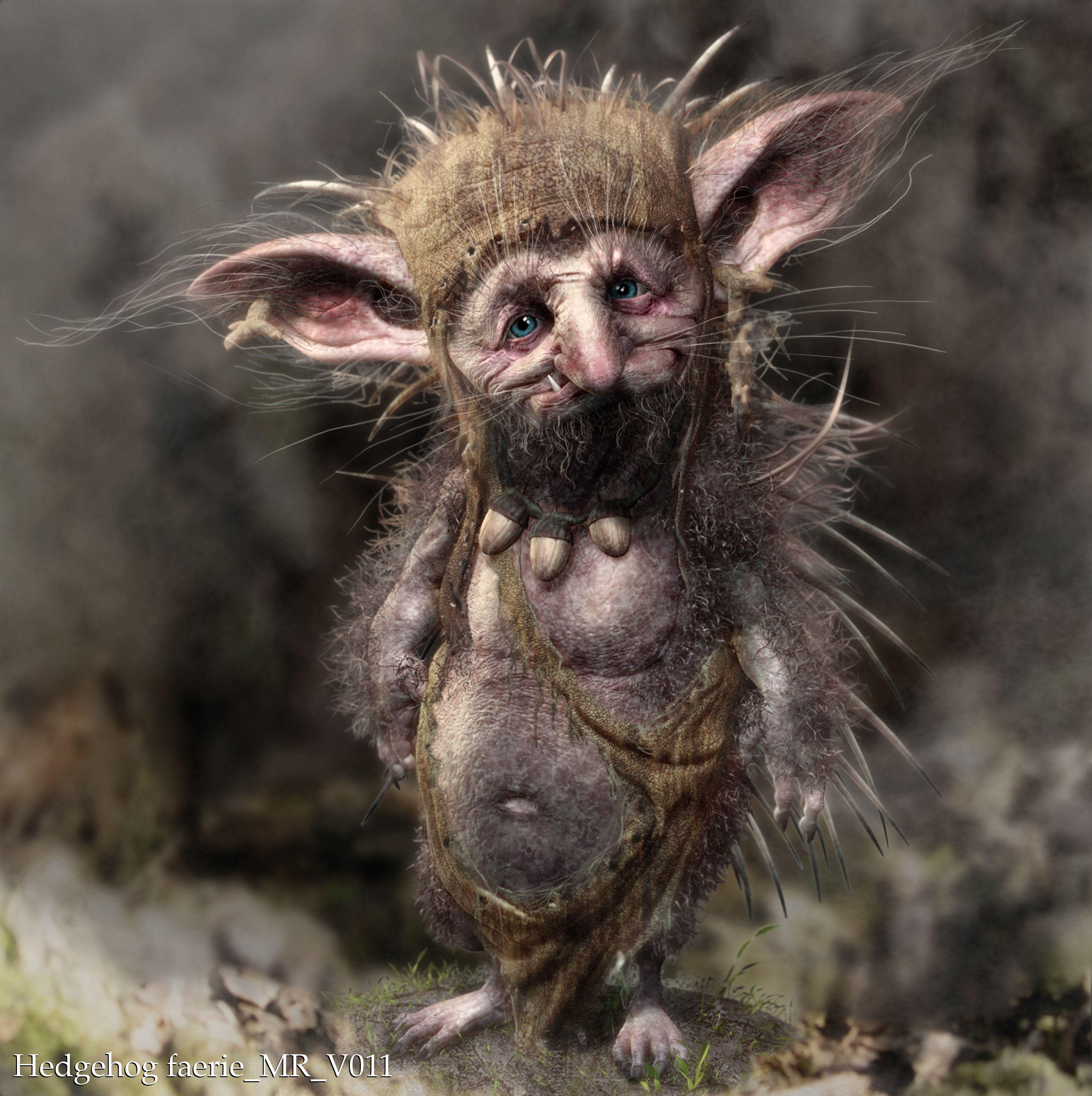 Hedgehog Faerie Malefica Imagenes Conceptuales Fairy
