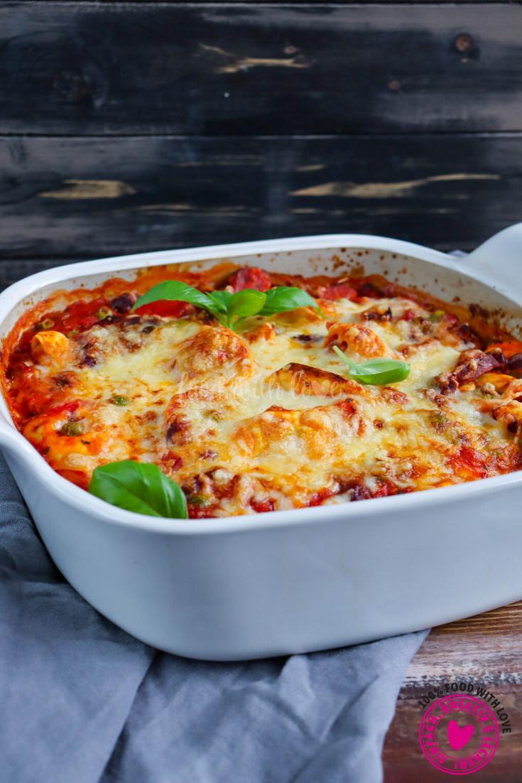 Tortellini Auflauf mit Chorizo