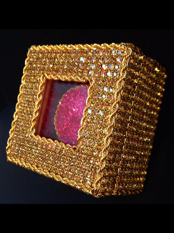 Handmade Ring Box, Crystal Proposal Ring Box, Engagement