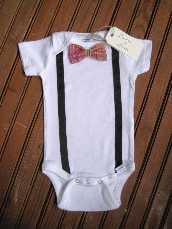 0324d8ff8 Jennifer Urban Short Sleeve Necktie or Bow Tie Onesie with ...