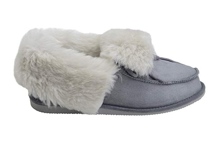 02efce39f Rusnak Luxury Sheepskin Leather Moccasin Slippers Fully Wool Lined House  Shoes W76 Review