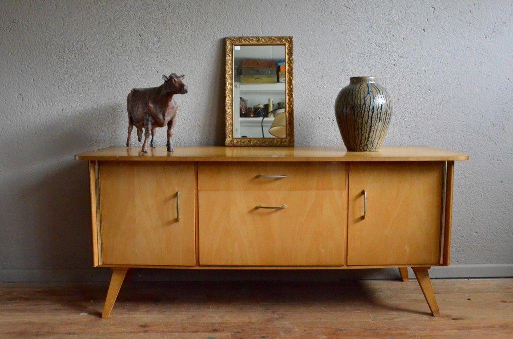 Enfilade bahut meuble TV Hifi meuble bas sideboard vintage rétro