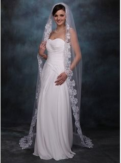 One-tier Chapel Bridal Veils With Lace Applique Edge From JJu0027s House,  Bridal u0026 bridal accessories. www.jjshouse.com We ship to Australia.