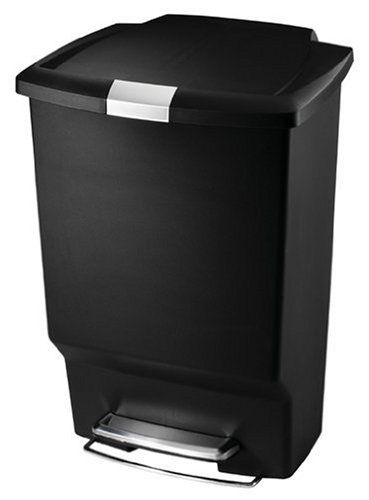 Simplehuman Step Trash Cans Rectangular Plastic 10 1 2 Gallons