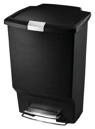 Simplehuman Step Trash Cans Rectangular Plastic 10 1 2 Gallons
