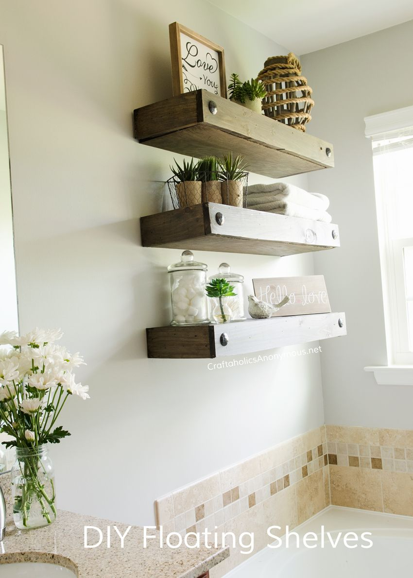 bathroom wall shelves ideas diy floating shelves home master bathrooms 16194