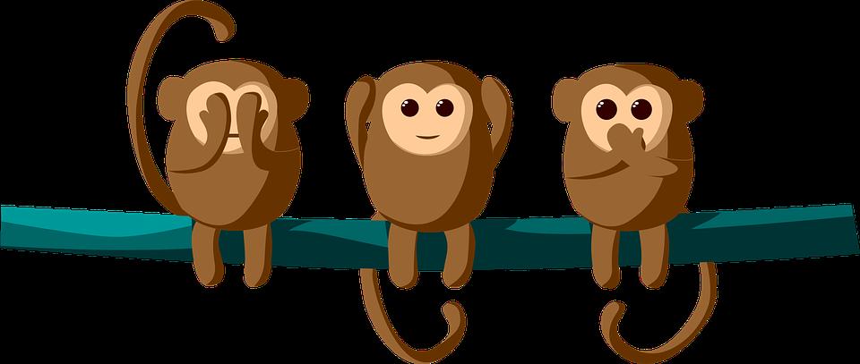 Бесплатные фото на Pixabay - Обезьяна, Три, Слышать ...