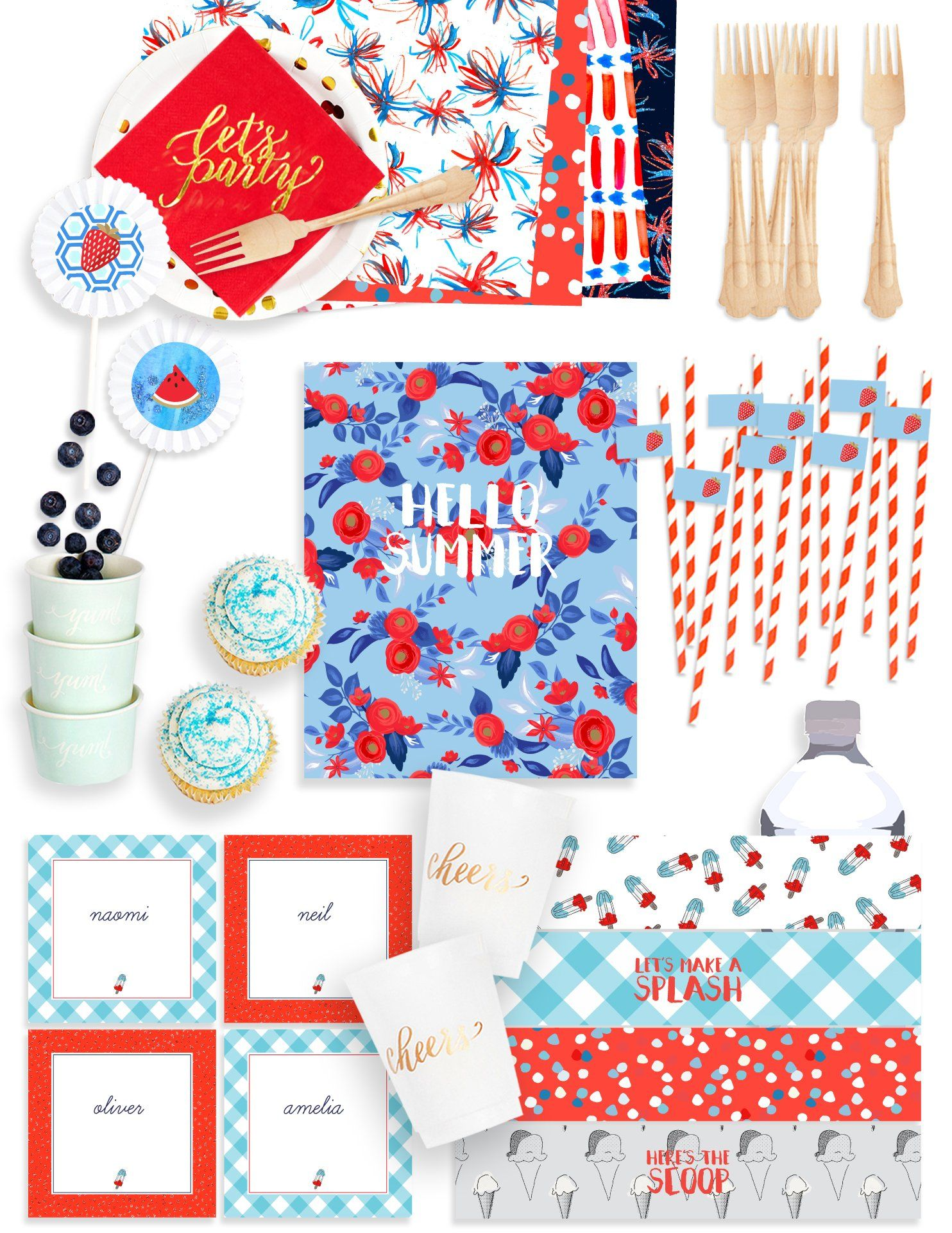 All The Summer Party Supplies And Summer Party Ideas You Need This Summer Party In A B Summer Party Supplies Summer Party Inspiration Summer Party Invitations