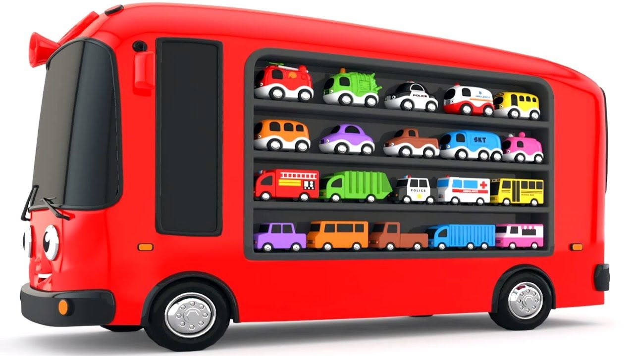 Colors for Children to Learn with Bus Transporter Toy
