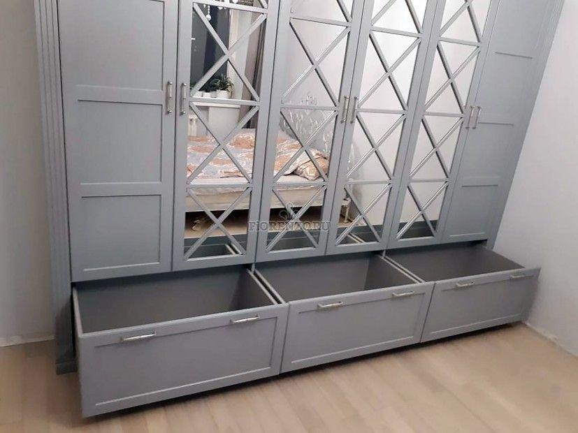 Зеркальный шкаф в спальню в стиле Прованс с раскладкой ...