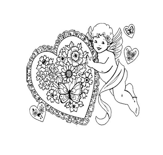 Angel Heart Happy Valentine S Day Coloring Page For Kids Valentines Day Coloring Page Coloring Pages For Kids Valentines Day Coloring