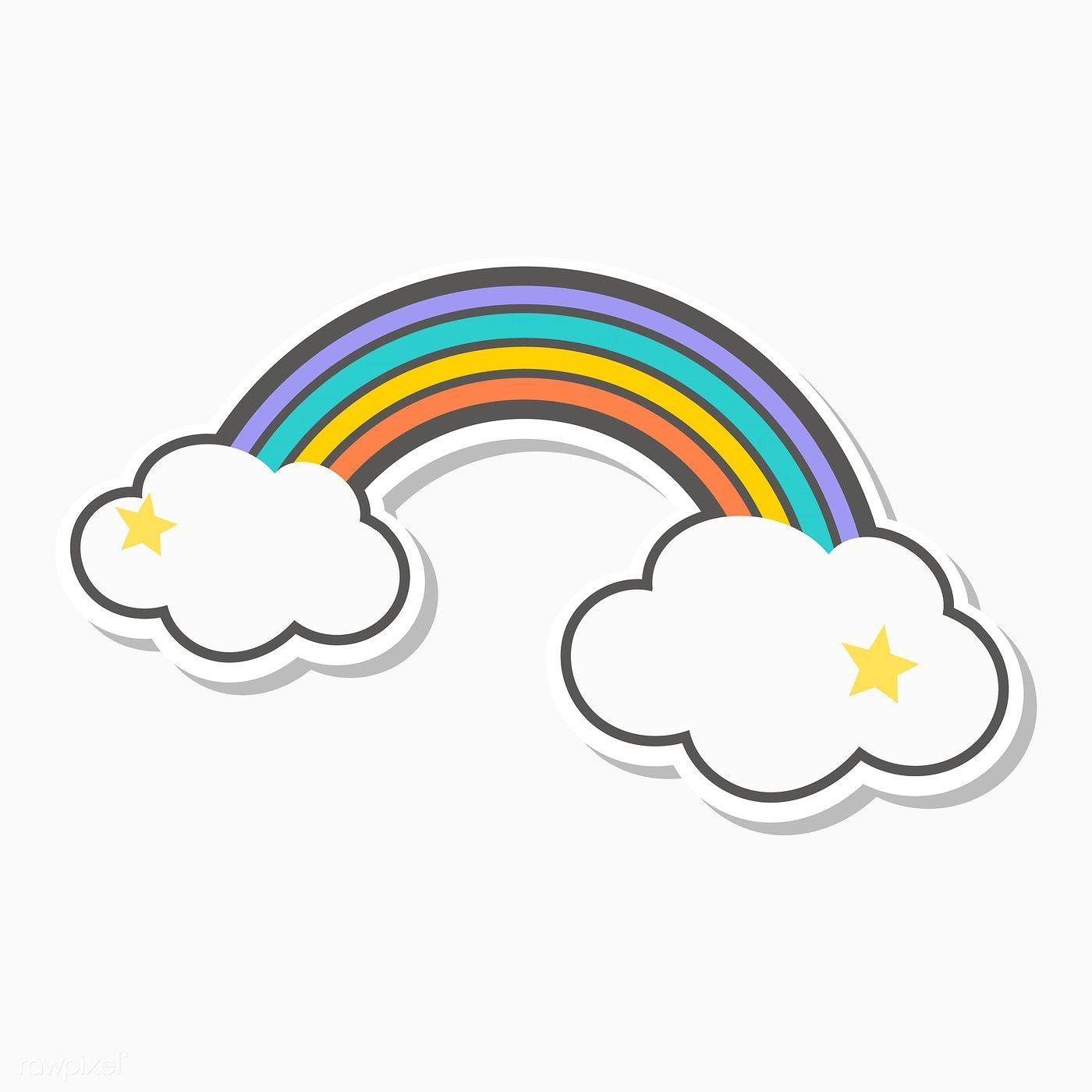 Magical Rainbow Unicorn Illustration Vector Free Image By Rawpixel Com Unicorn Illustration Rainbow Cartoon Cloud Stickers