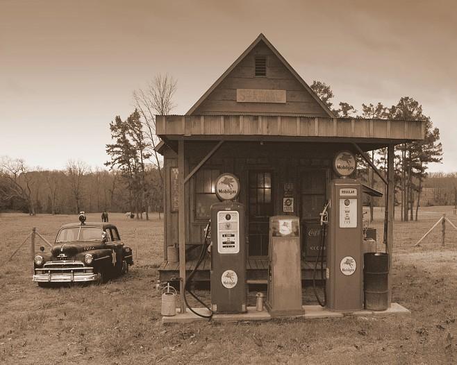 Old Arkansas gas station -