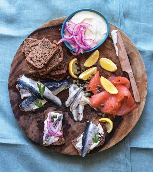 Cured Fish Platter With Accompaniments Recipe Fish Platter Seafood Platter Food Platters