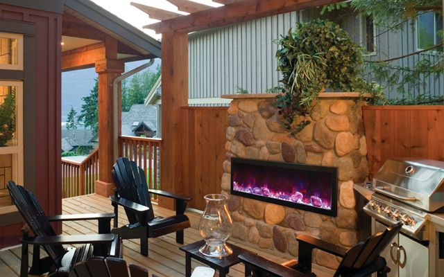 Add Modern Flare to Your Patio Outdoor Electric Fireplace by