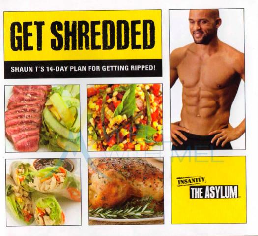 get shredded complete diet plan